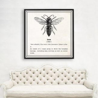 Bumble Bee Art, Dictionary Print, Bee