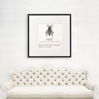 Housefly Art, Dictionary Print, Housefly Definition,