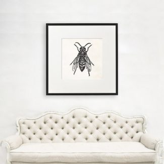 Housefly Wall Art, Large Insect Art,