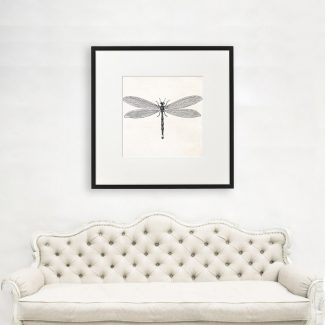 Dragonfly Wall Art, Large Insect Art,