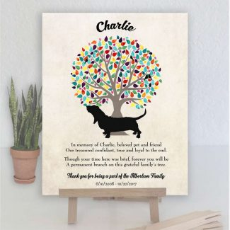 Basset Hound, Family Tree, Dog Memorial,