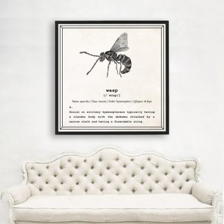 Wasp Wall Art, Dictionary Print, Wasp