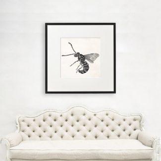 Wasp Wall Art, Large Insect Wall