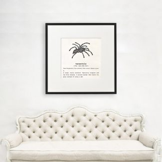 Tarantula Wall Art, Dictionary Print, Tarantula