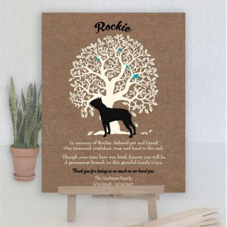 Boston Terrier, Family Tree, Dog Memorial,