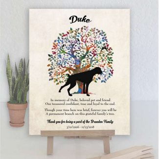 Boxer, Family Tree, Dog Memorial, Poem,