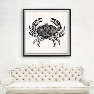 Crab Art, Large Crab Wall Art,