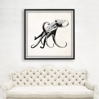 Octopus Art, Large Octopus Wall Art,