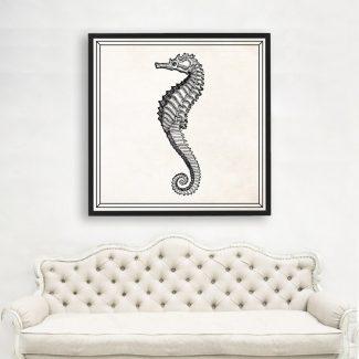Seahorse Art, Large Seahorse Wall Art,
