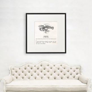 Lobster Wall Art, Dictionary Print, Lobster