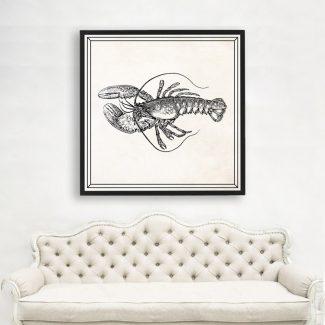 Lobster Art, Large Lobster Wall Art,