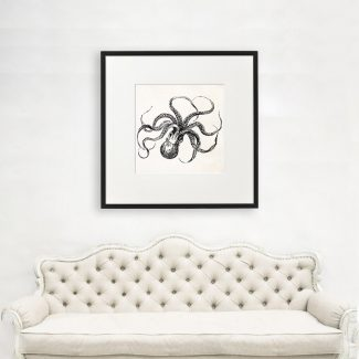Octopus Art, Big Octopus Wall Art,