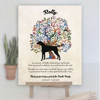 Dalmatian, Family Tree, Dog Memorial, Poem,