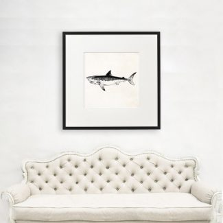 Shark Art Gift, Large Shark Wall