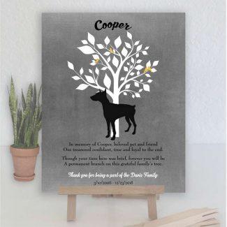 Doberman, Family Tree, Dog Memorial, Poem,