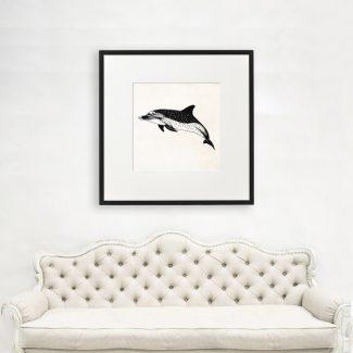 Dolphin Art, Large Dolphin Wall Art,