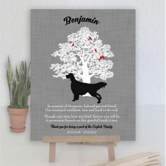 English Setter, Family Tree, Dog Memorial,