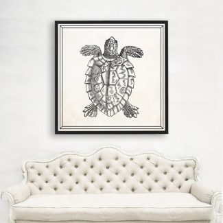 Tortoise Art, Large Tortoise Wall Art,