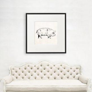 Pig Wall Art, Large Pig Wall