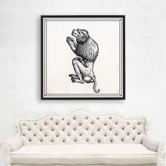 Lion Monkey Wall Art, Large Monkey