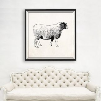 Sheep Wall Art Gift, Large Sheep
