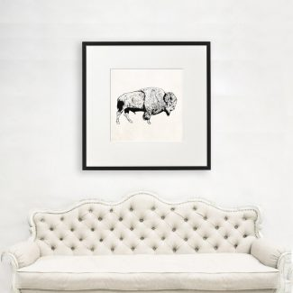 Bison Wall Art Gift, Large Bison