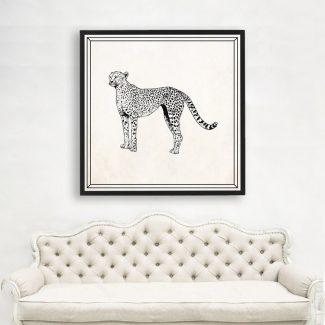 Cheetah Wall Art Gift, Large Wall
