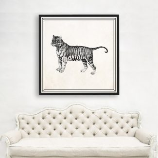Tiger Wall Art Gift, Large Tiger