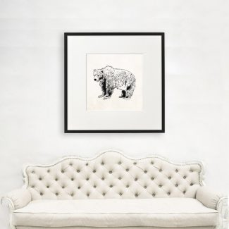 Bear Wall Art Gift, Large Bear