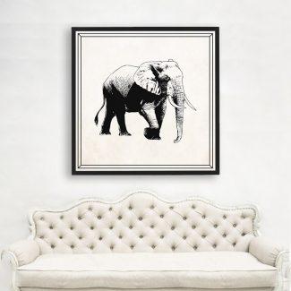 Elephant Wall Art, Large Animal Wall