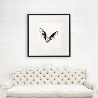 Bat Wall Art Gift, Large Bat