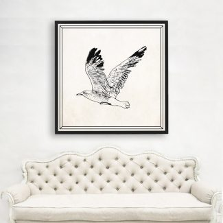 Gull Wall Art Gift, Large Gull