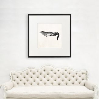 Crocodile Wall Art, Large Wall Art,