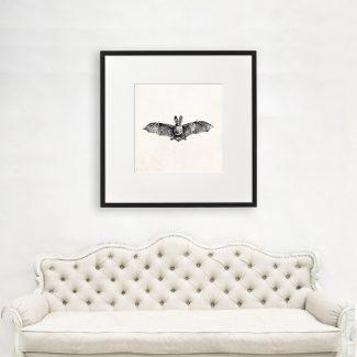 Bat Wall Art, Large Bat Wall