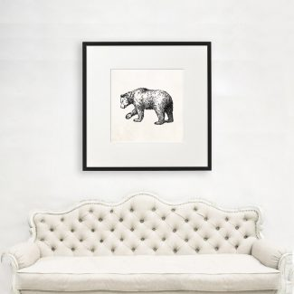 Bear Art, Large Animal Wall Art,