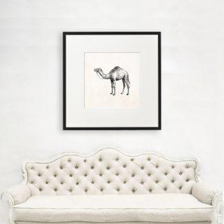 Arabian Camel Wall Art, Large Animal