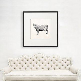 Cow Wall Art, Large Animal Wall
