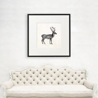 Reindeer Wall Art Gift, Large Animal