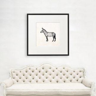 Donkey Wall Art Gift, Large Donkey