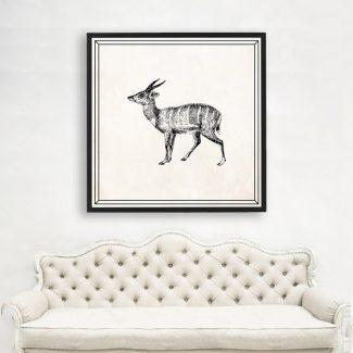 Deer Wall Art Gift, Large Animal