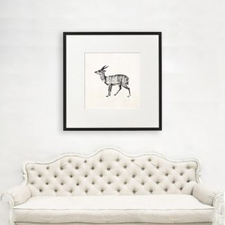 Deer Wall Art Gift, Large Animal
