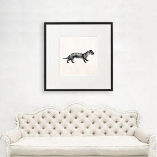 Weasel Wall Art Gift, Large Animal