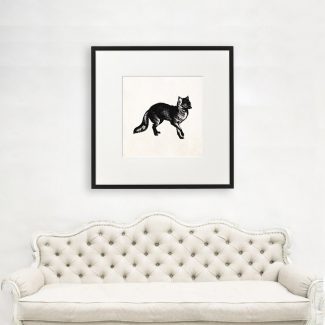 Fox Wall Art Gift, Large Fox