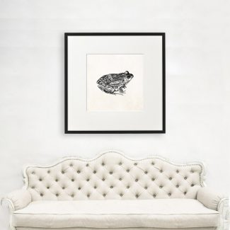 Frog Wall Art, Large Frog Wall