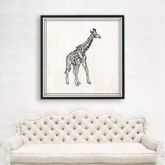 Giraffe Wall Art, Large Animal Wall