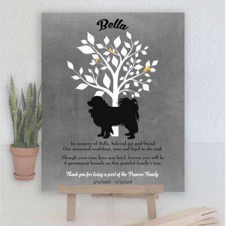 Papillon, Family Tree, Dog Memorial, Poem,