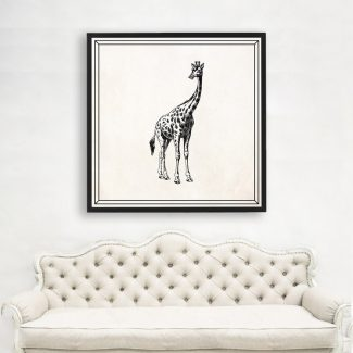 Giraffe Art Gift, Large Giraffe Wall
