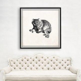 Bear Cub Art, Large Animal Wall