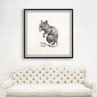 Mouse Art, Large Mouse Wall Art,