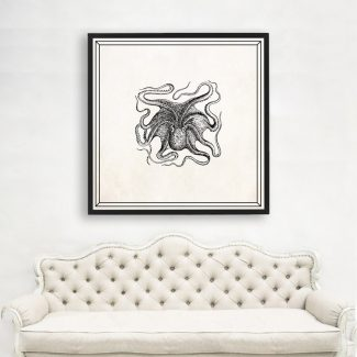 Octopus Art, Large Octopus Wall Art, Scientist